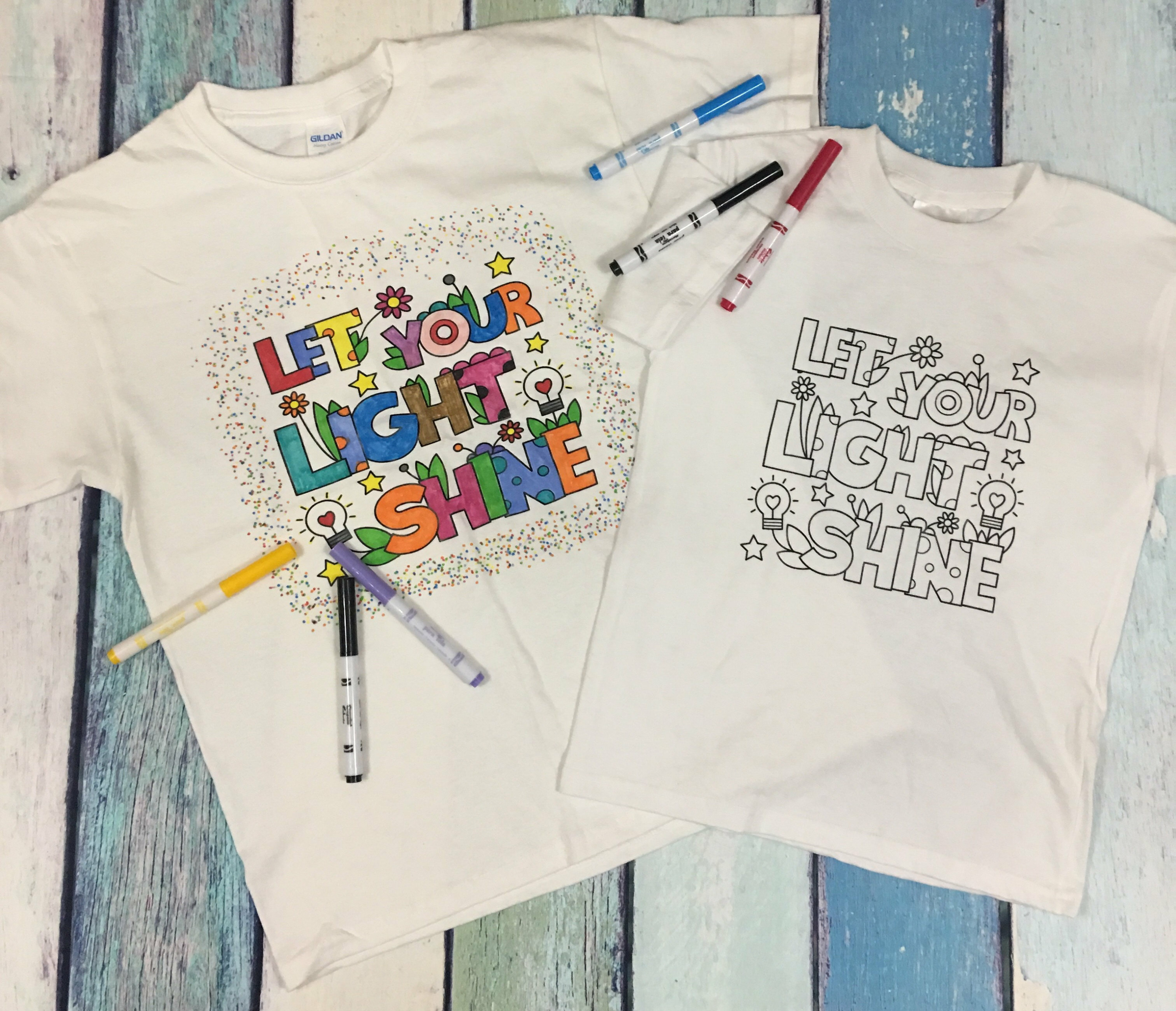Kids Coloring T-Shirts
